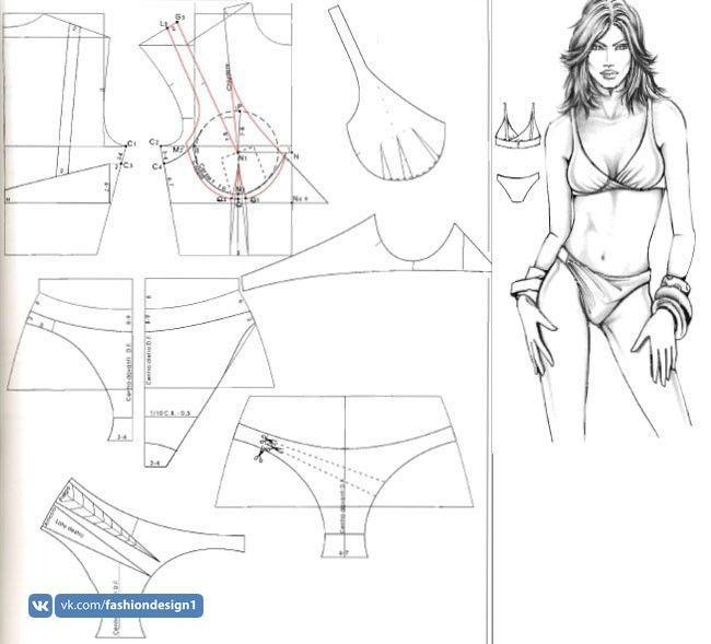 Выкройка купальника (80 фото): как сшить своими руками слитный и бикини, из какой ткани сделать, мастер класс по пошиву бандо