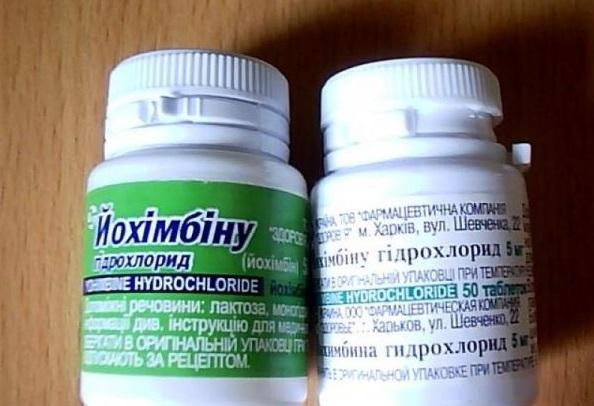Йохимбина гидрохлорид - инструкция по применению, цена, отзывы и аналоги