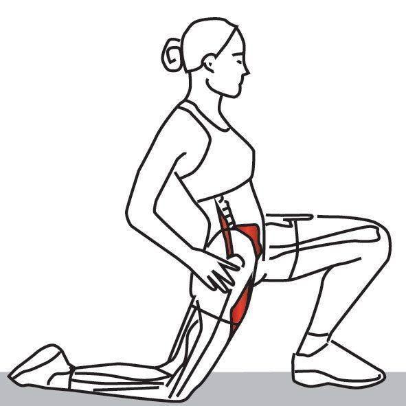 Растяжка передней поверхности бедра упражнения