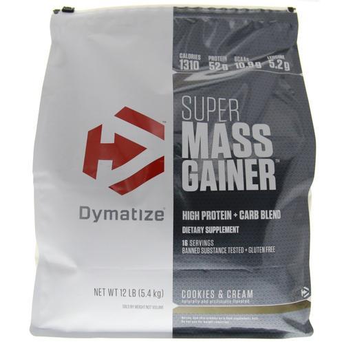 Компоненты гейнера super mass от dymatize и способ приёма