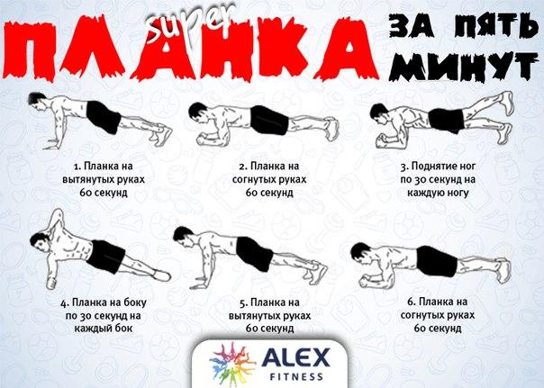 Планка каждый день: комплекс на 5 минут, влияние на мышцы и похудение, польза и вред