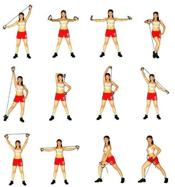 Комплекс упражнений с фитнес-резинкой —силовая тренировка для мужчин