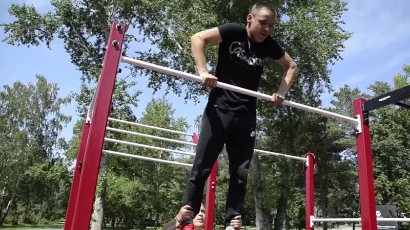 Выход силой на две руки: техника выполнения упражнений