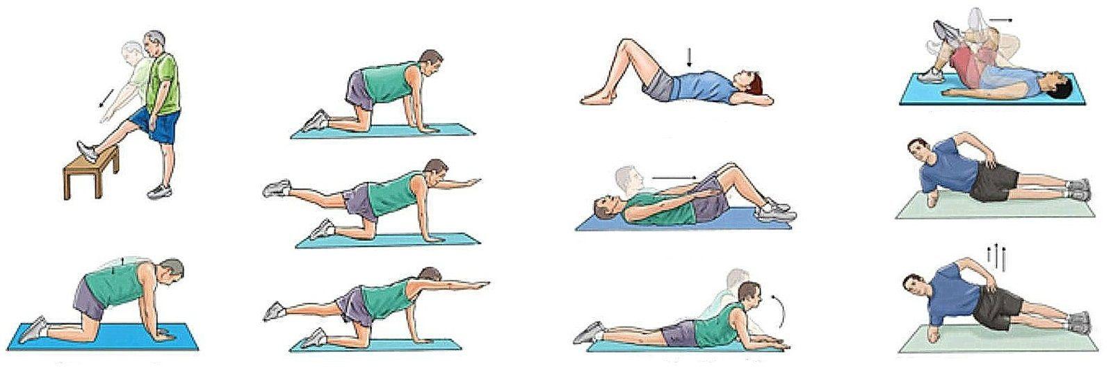 Упражнения от боли в спине. комплекс упражнений при болях в спине