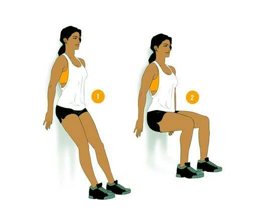 Упражнение «стульчик» у стены — как правильно делать, какие мышцы работают и что дает это движение?