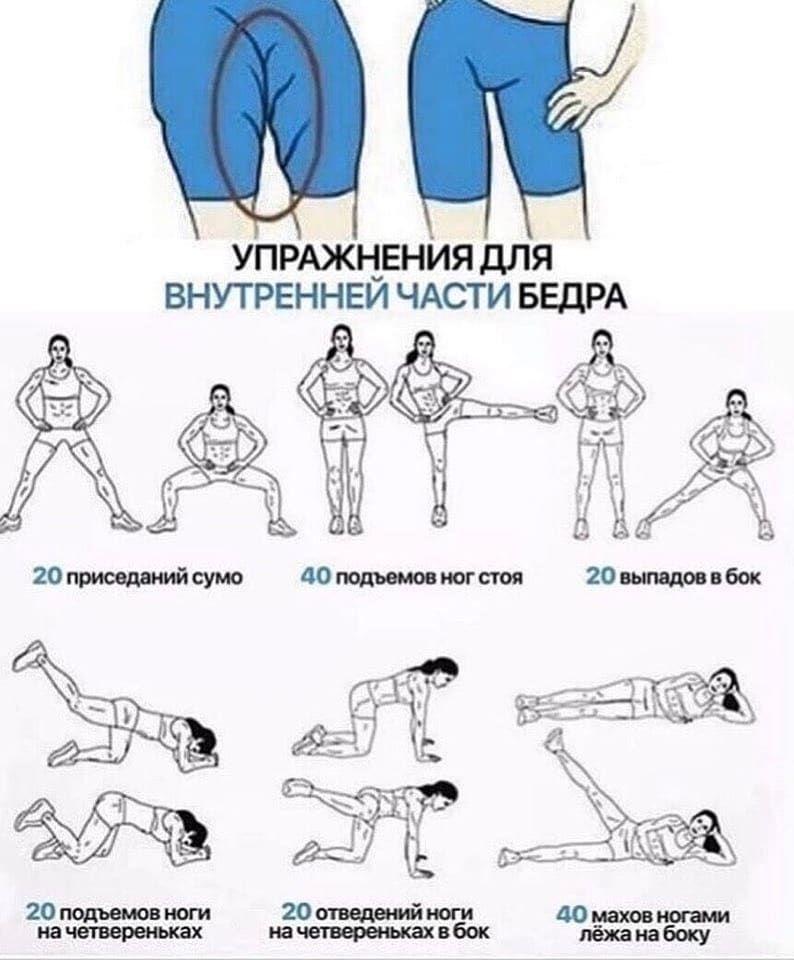 Упражнения для внутренней части бедер: видео и описание, тренажеры, направленные на внутреннюю часть бедра