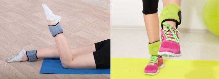 Упражнения с утяжелителями для ног, рук, ягодиц, бедер - видео