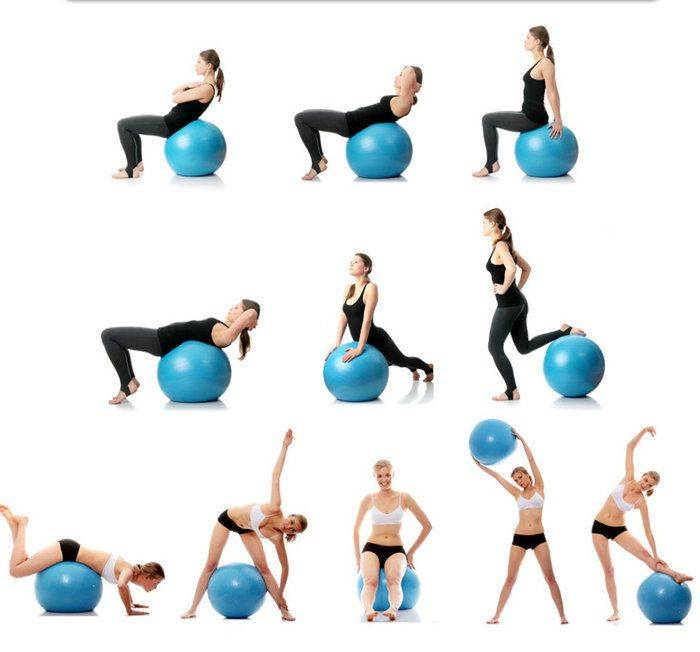 Топ-5 упражнений для укрепления позвоночника на фитболе: видео и фото