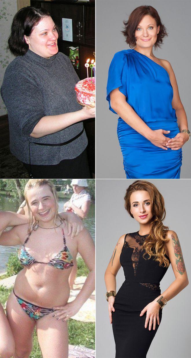 До и после похудения, реальные фото похудевших людей