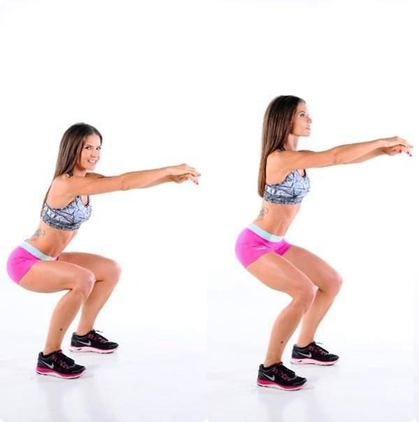 Приседания для ягодиц: как правильно выполнять упражнения девушкам?