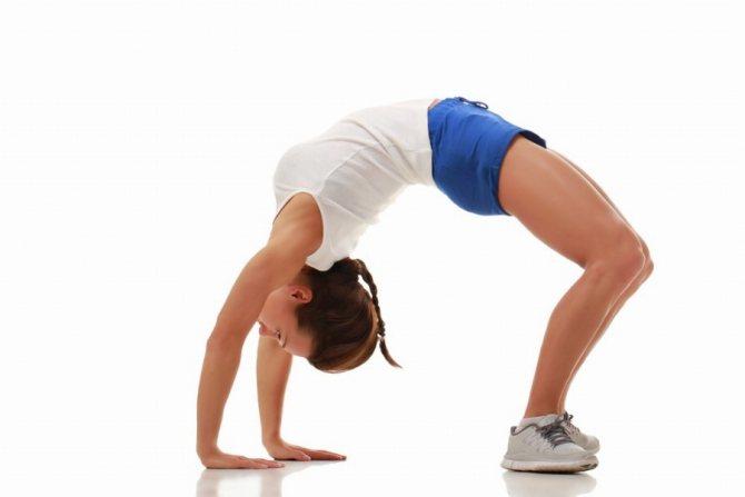 Гимнастический мостик упражнение