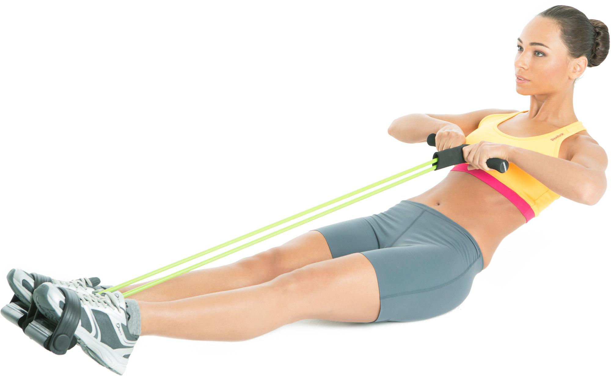 15 упражнения с эспандером (резинкой) — упражнения на плечи, спину, пресс и ягодицы | lisa.ru