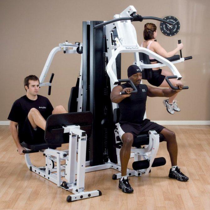 Виды тренажеров для спортзала. предназначение и принцип работы