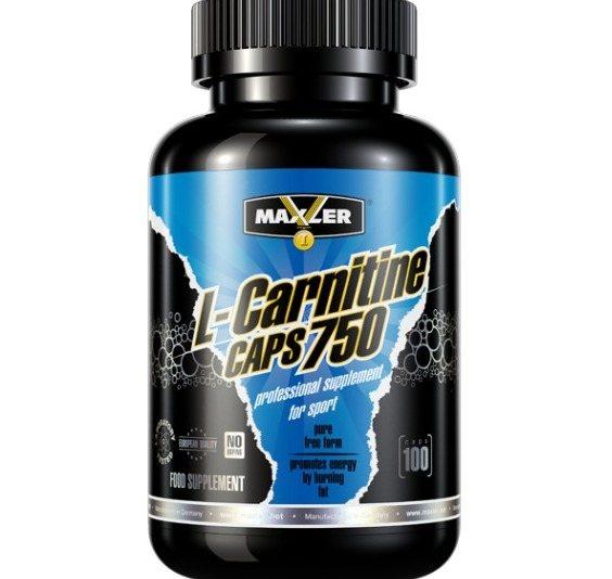 L-carnitine 750 мг 100 капс (maxler)