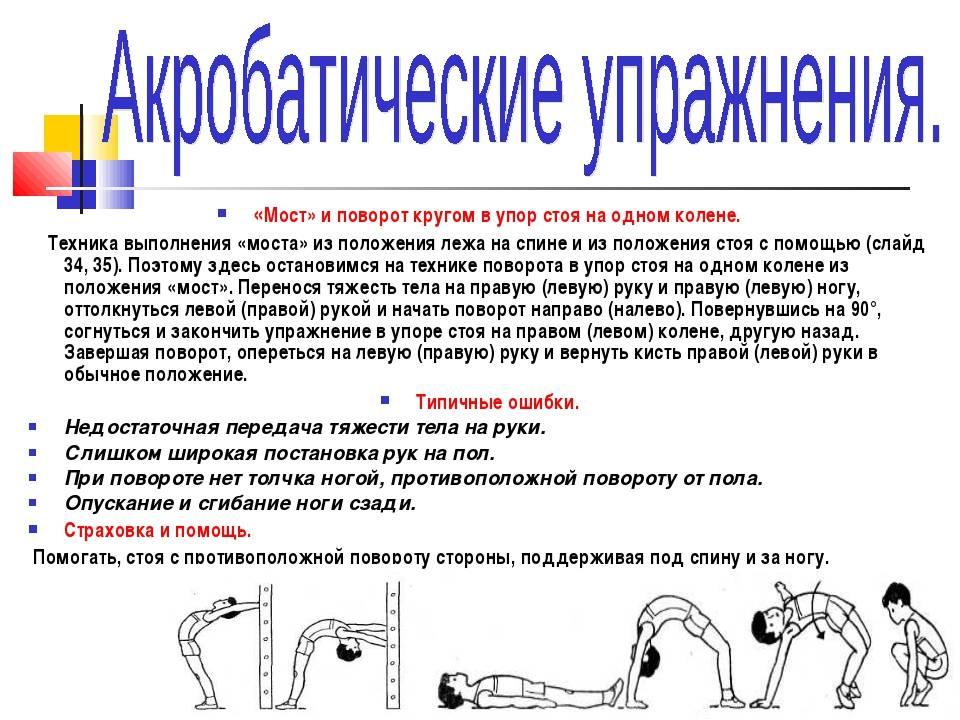 Как встать на мостик: инструкция + упражнения (с фото)