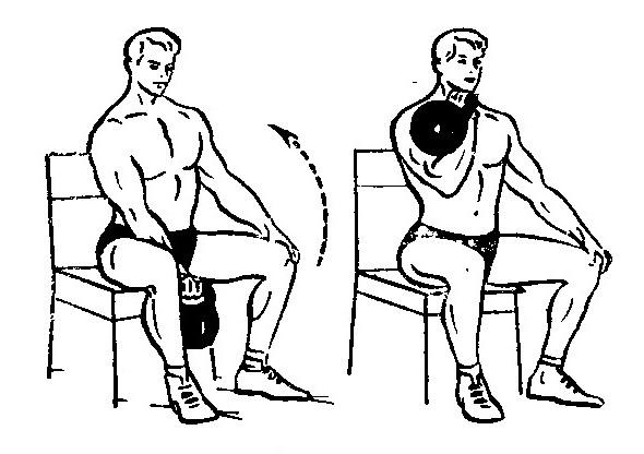 Как накачать бицепс за 1 неделю парню и девушке * упражнения с помощью гири с фото