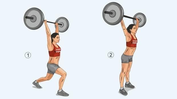 Рывок штанги: техника выполнения упражнения, польза, какие мышцы работают