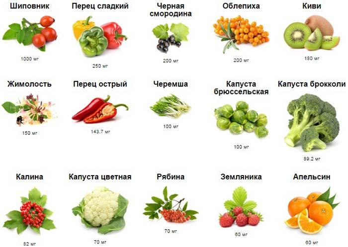 В каких продуктах содержится витамин в: таблица, топ 10