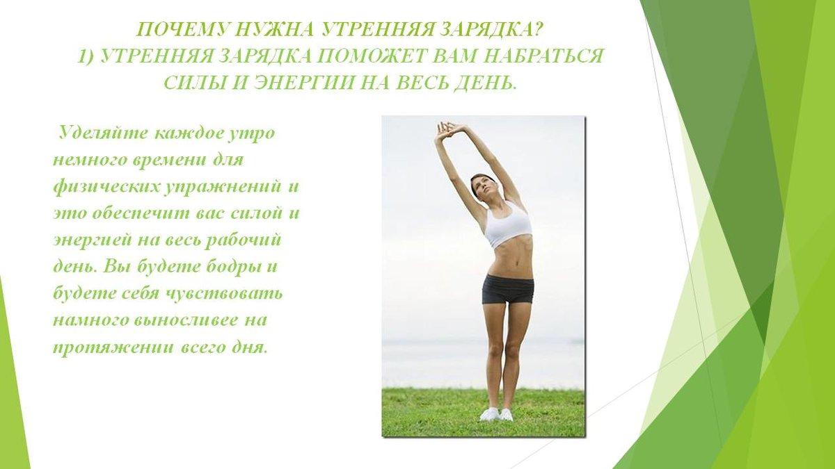 Комплекс упражнений для утренней зарядки для мужчин и женщин