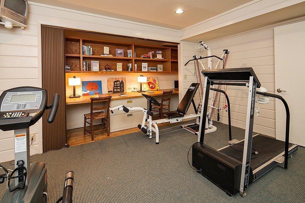 Тренажерный зал дома (91 фото): домашний спортзал в квартире и частном доме, напольное покрытие и инвентарь, дизайн интерьера и проекты