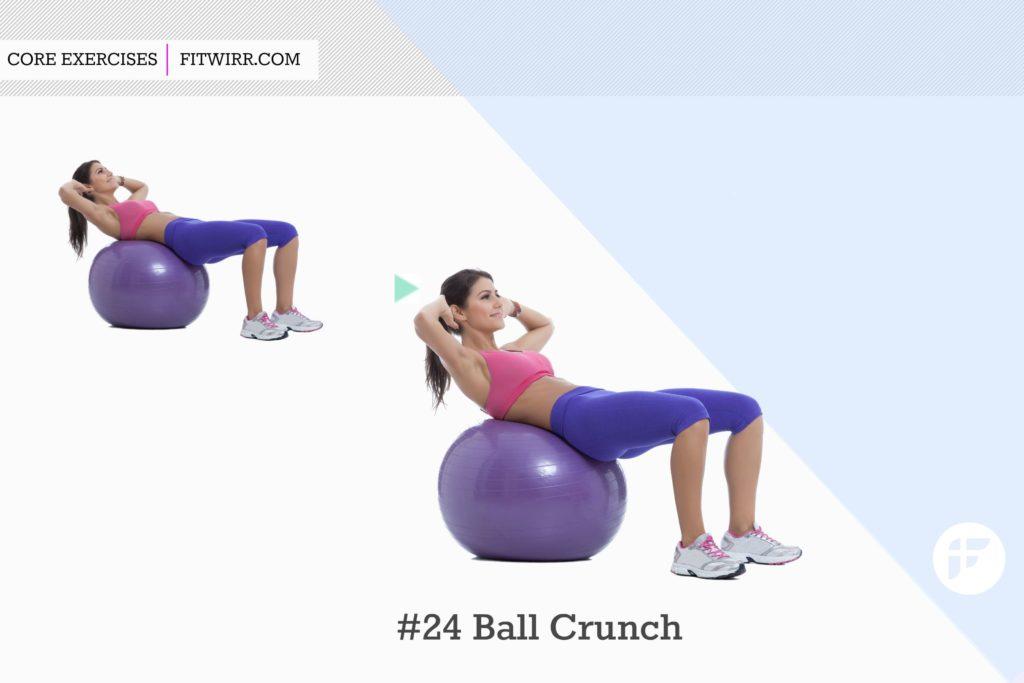 Упражнения с фитболом для мышц пресса и похудения живота, видео