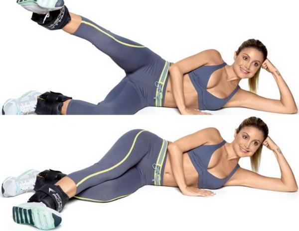 Махи ногами лежа на боку (подъем ноги лежа на боку) с расширенной амплитудой - rostisila.com