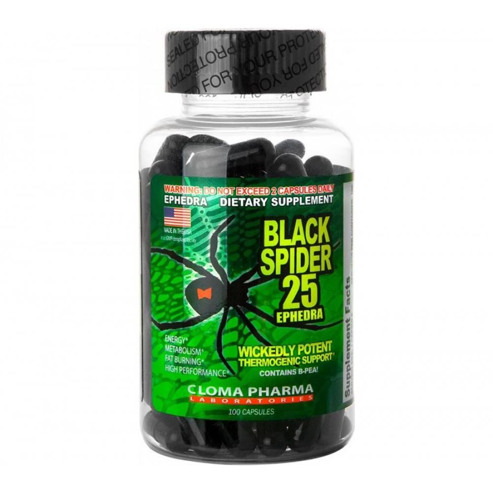 Все что нужно знать о жиросжигателе black spider 25 c эфедрой. cloma pharma black spider – отзывы