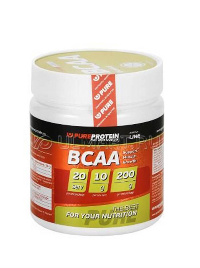 Bcaa (200г) аминокислоты от pure protein, купить, отзывы и рекомендации