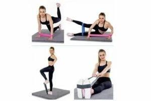 Упражнения с резиновой эластичной лентой для женщин