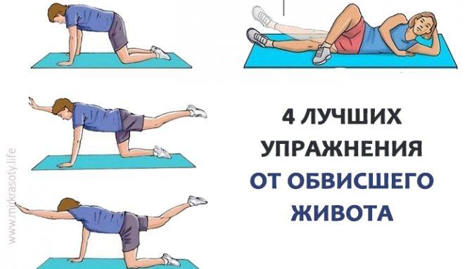 Упражнения для живота после родов в домашних условиях