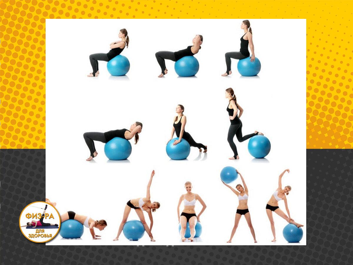 Упражнения на фитболе для похудения