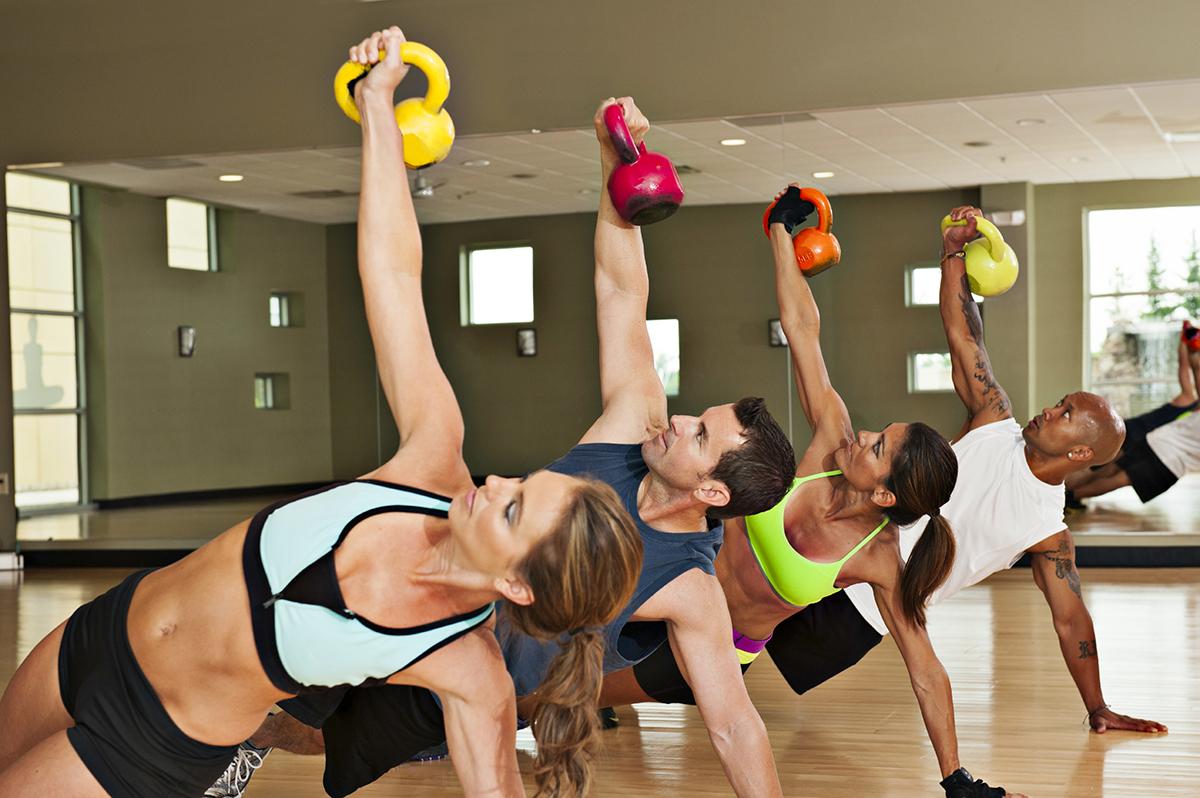 Силовые упражнения в фитнесе.