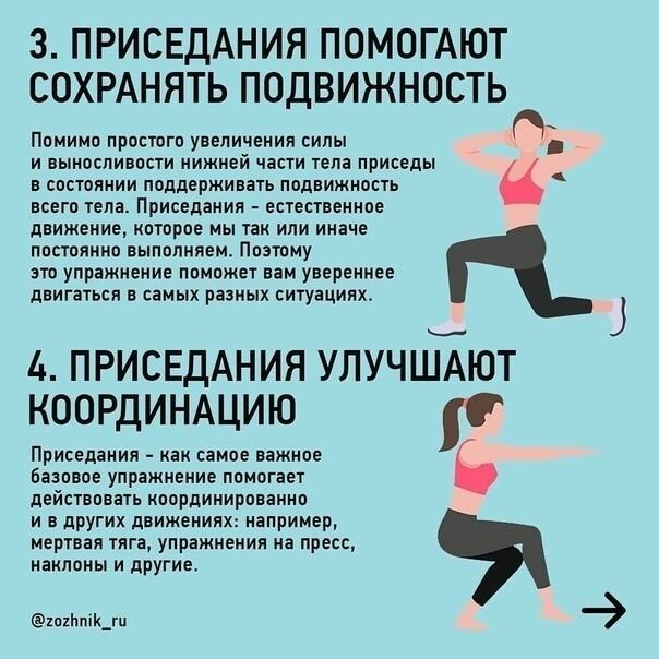 польза приседаний для девушек, женщин и мужчин