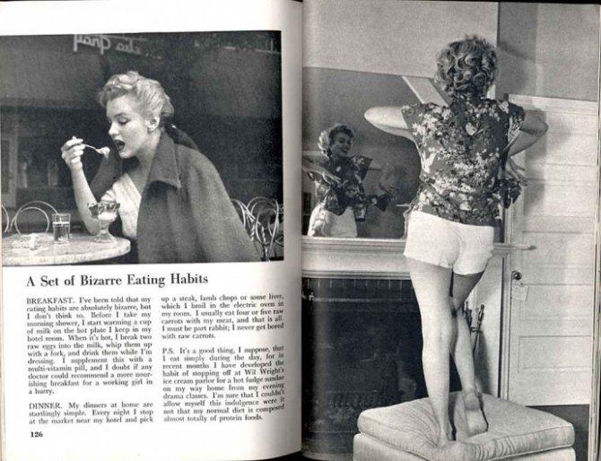 Диета мерлин монро. испытание молоком и сырыми яйцами: легендарная диета мэрилин монро