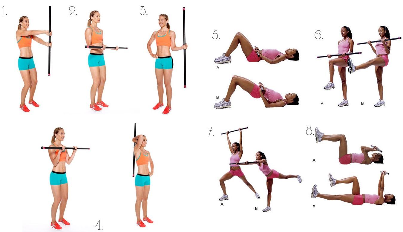 Комплекс упражнений с бодибаром