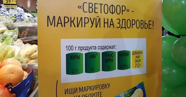 Путь к здоровому питанию нам откроет маркировка «светофор»