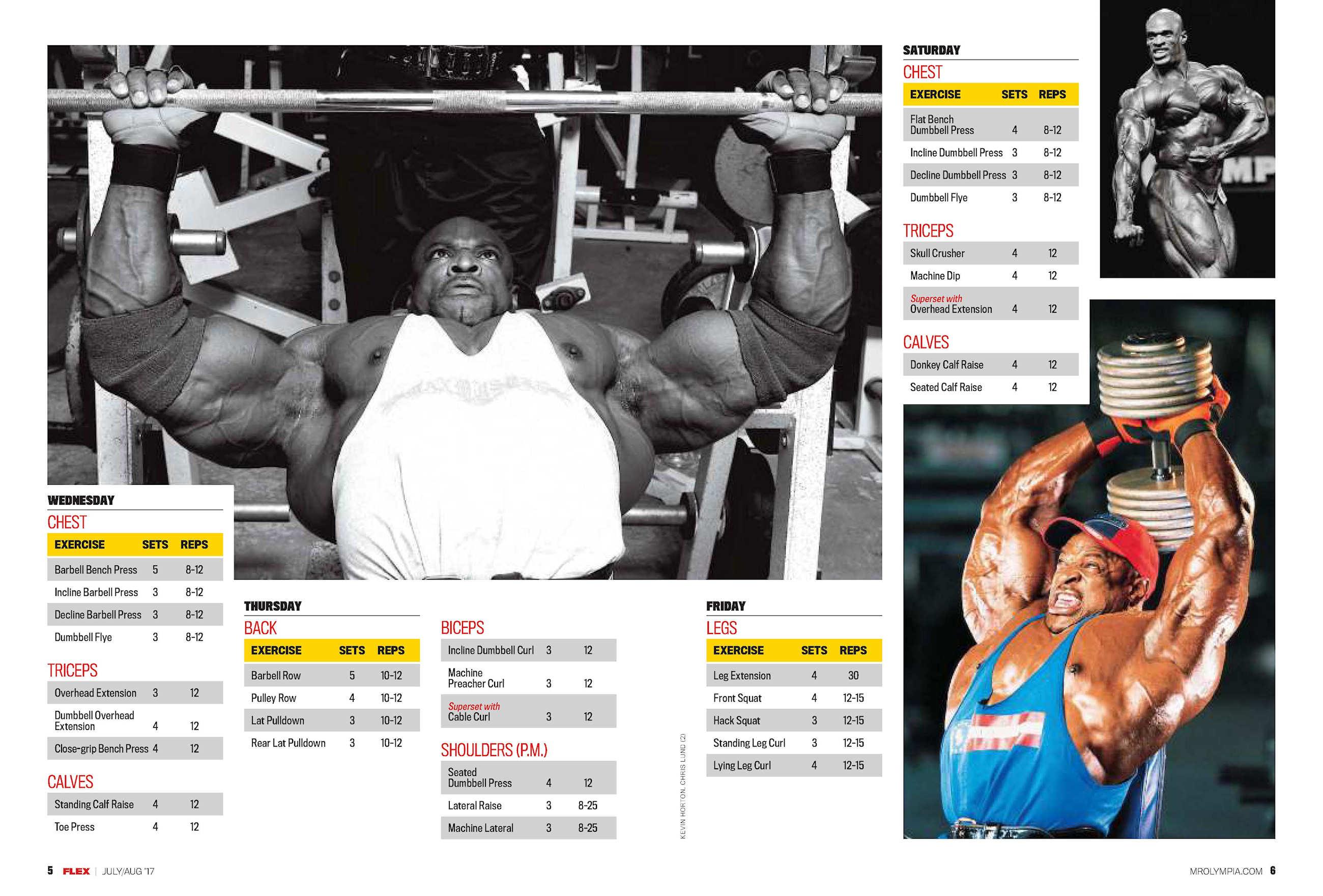 Ронни колеман- система тренировок | бодибилдинг и фитнес программы тренировок, как накачать мышцы, сбросить лишний вес