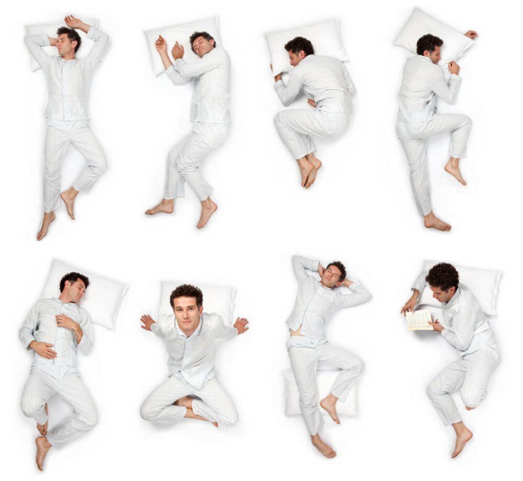 Лучшие позы для правильного положения тела во время сна