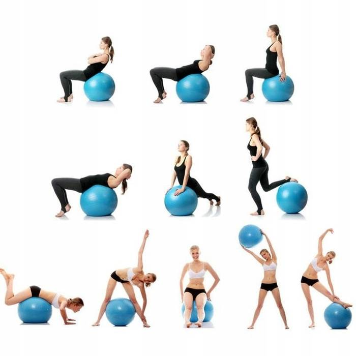 Фитбол для похудения: польза, вред, упражнения (фото)