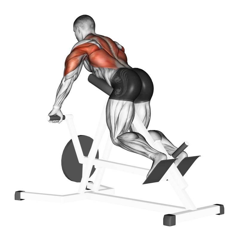 Тяга т-грифа для v-образной спины