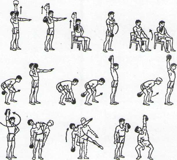Программа тренировок с гантелями дома