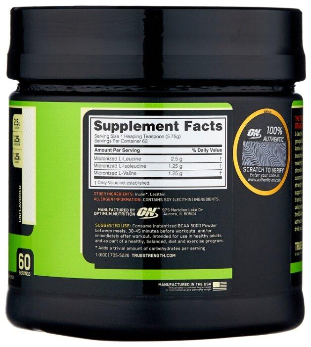 Отзывы об optimum nutrition bcaa 5000 powder