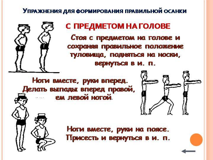 Комплекс упражнений для формирования правильной осанки: профилактики