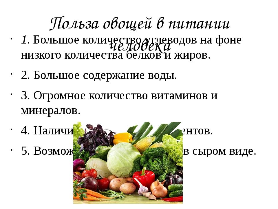 Польза овощей для организма человека – какие полезнее