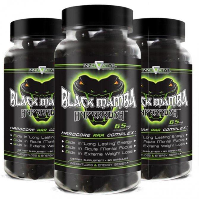 Black mamba hyperrush: как принимать, состав и отзывы
