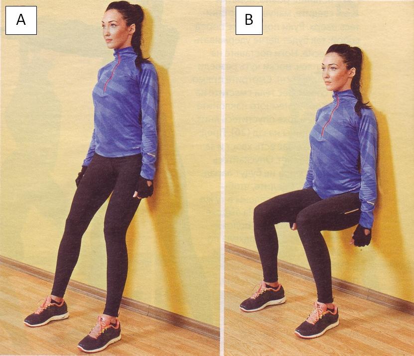 Упражнение стульчик у стены, как правильно делать. упражнение «стульчик» дома у стены: какие мышцы укрепляет