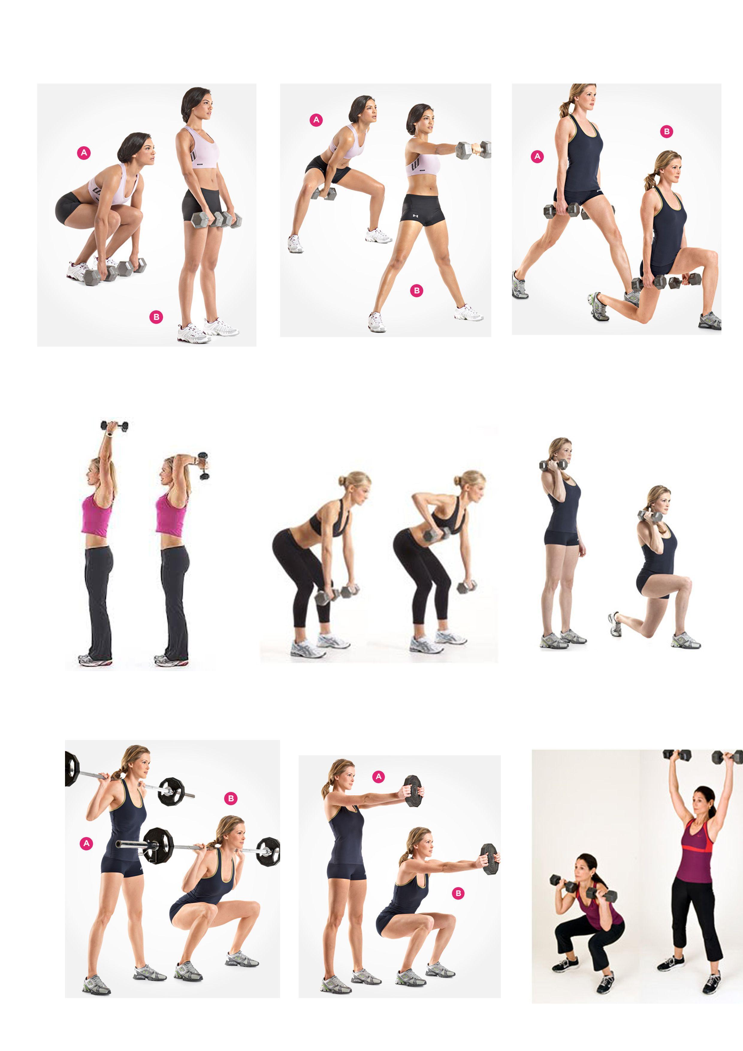Точеные руки, округлые ягодицы: лучшие упражнения с гантелями для женщин