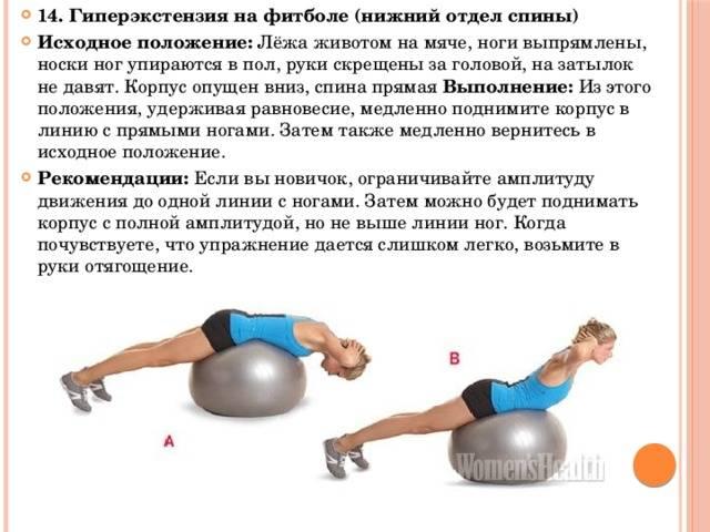 Упражнение гиперэкстензия для спины и ягодиц: виды упражнения и как правильно ее делать