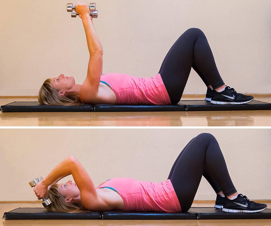 Упражнения для трицепса для женщин - в зале и в домашних условиях