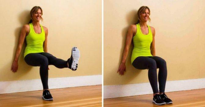 Упражнение стульчик: как правильно делать у стены и без нее